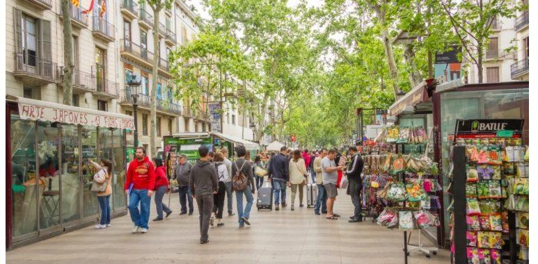 เที่ยวถนนคนเดิน ลารัมบลาส La Ramblas, Barcelona